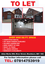 4000 Sq.ft Industrial Unit With Parking TO LET